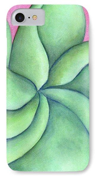 Frangipani Green IPhone Case by Versel Reid