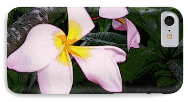 IPhone Case featuring the digital art Frangipani Moment by Winsome Gunning