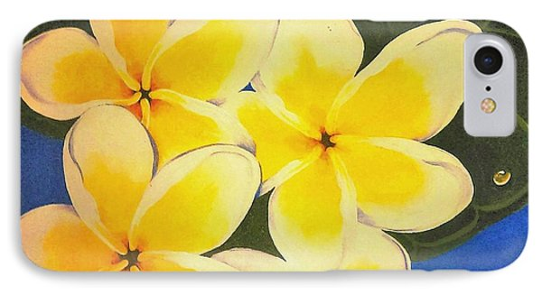 Frangipani With Lady Bug IPhone Case by Sandra Phryce-Jones
