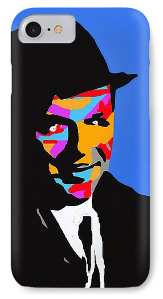 Frank Feeling Blue Phone Case by Robert Margetts
