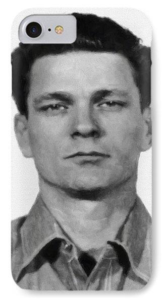 Frank Morris Painterly - Alcatraz Escapee Mastermind IPhone Case