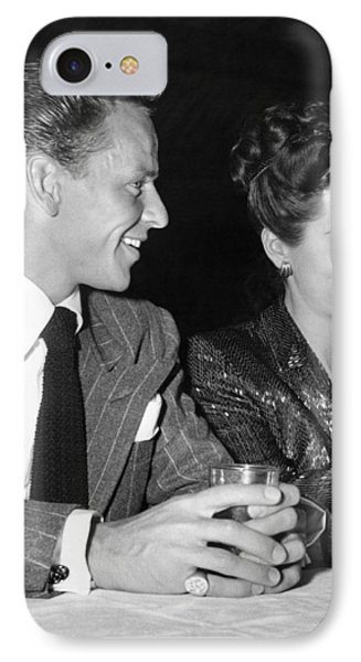 Frank Sinatra And Nancy IPhone Case by Underwood Archives