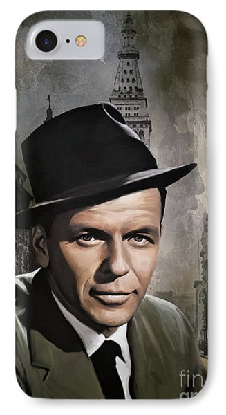 IPhone Case featuring the painting  Frank Sinatra by Andrzej Szczerski