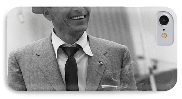 Frank Sinatra - Capitol Records Recording Studio #3 IPhone 7 Case by The Titanic Project