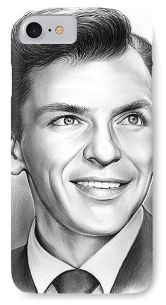 Frank Sinatra IPhone Case by Greg Joens