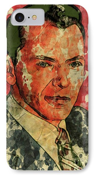 Frank Sinatra Hollywood Singer And Actor IPhone Case by Mary Bassett