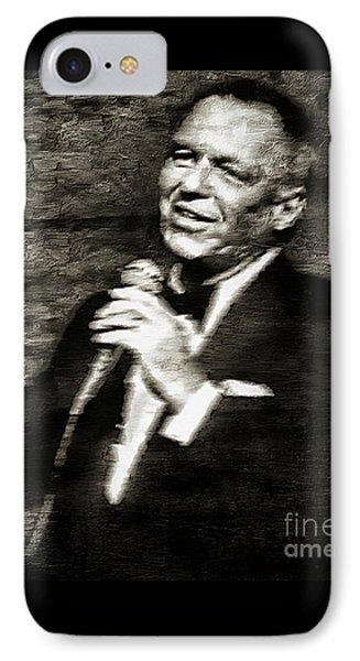 Frank Sinatra -  IPhone Case by Ian Gledhill