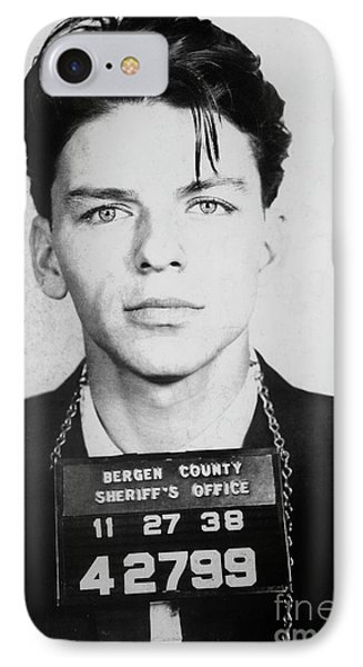 Frank Sinatra Mugshot IPhone Case by Jon Neidert