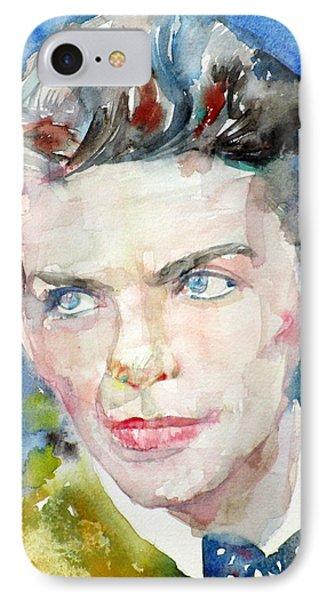 Frank Sinatra - Watercolor Portrait.8 IPhone Case by Fabrizio Cassetta