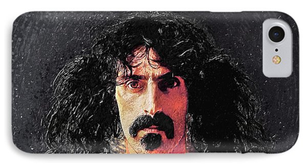 Frank Zappa IPhone Case by Taylan Apukovska