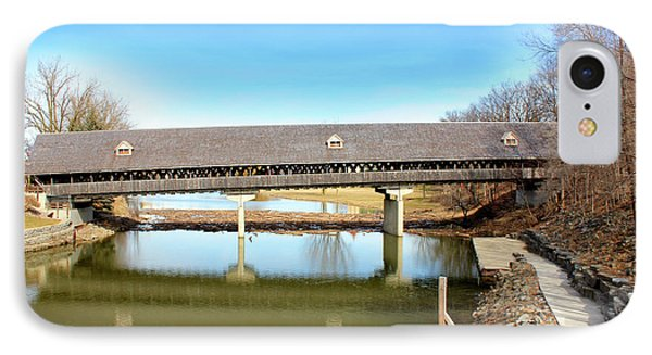 Frankenmuth Covered Bridge IPhone Case by Design Turnpike