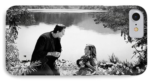 Frankenstein By The Lake With Little Girl Boris Karoff IPhone Case