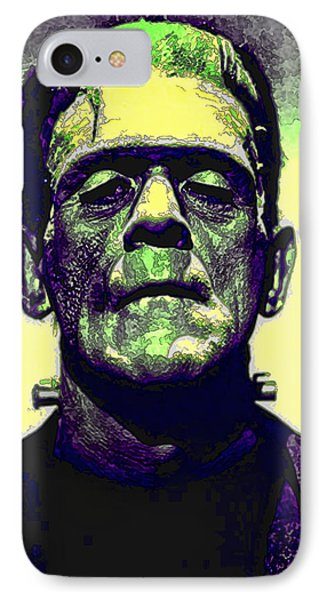 Frankenstein In Color IPhone Case by Joan  Minchak