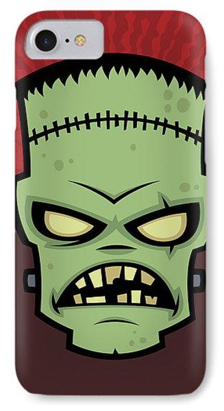 Frankenstein Monster Phone Case by John Schwegel