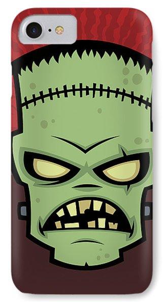 Frankenstein Monster IPhone Case by John Schwegel