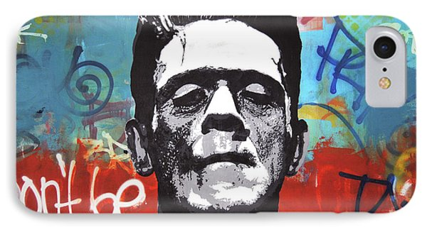 Frankenstein Rebel IPhone Case by Mike Patino