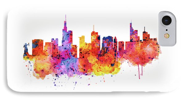 Frankfurt Skyline IPhone Case by Marian Voicu