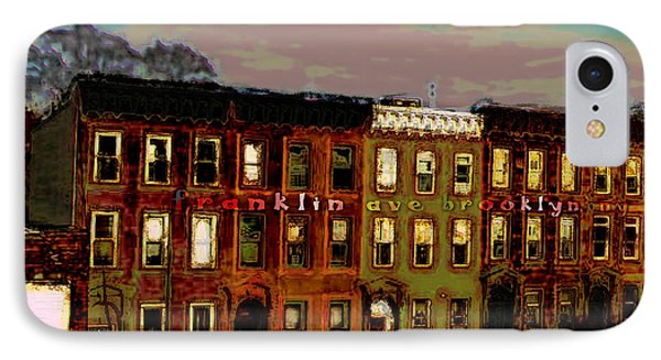 Franklin Ave. Bk IPhone Case by Iowan Stone-Flowers