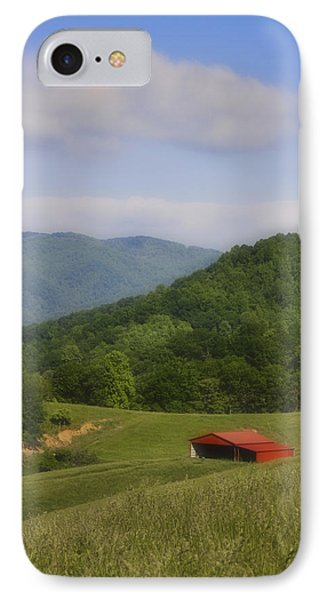 Franklin County Virginia Red Barn Phone Case by Teresa Mucha