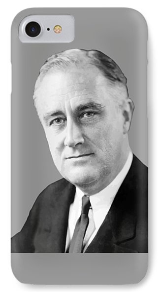 Franklin Delano Roosevelt Phone Case by War Is Hell Store