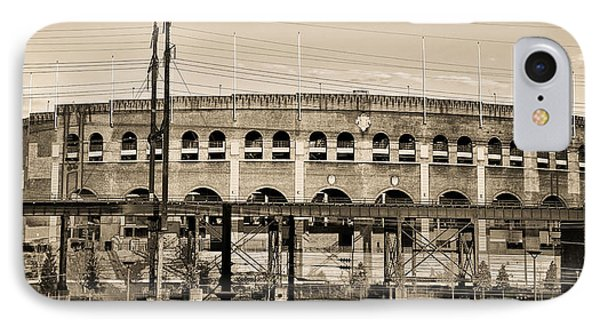 Franklin Field In Sepia IPhone Case by Bill Cannon