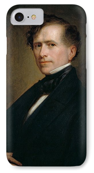 Franklin Pierce IPhone Case by George Peter Alexander Healy