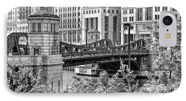 Franklin Street Bridge Black And White IPhone Case by Christopher Arndt