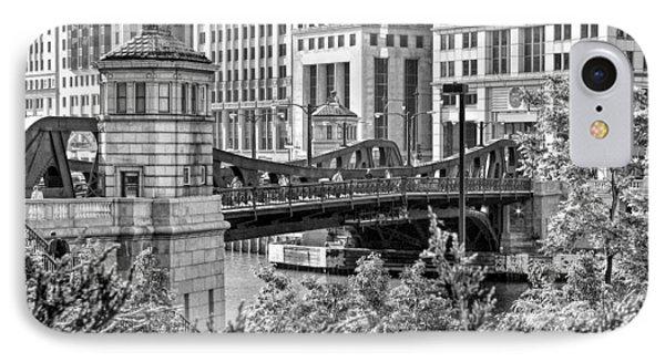 Franklin Street Bridge Black And White IPhone Case