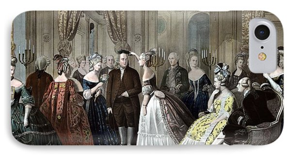 Franklin's Reception At The Court Of France Phone Case by War Is Hell Store
