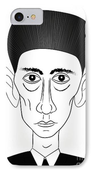 Franz Kafka Phone Case by Michal Boubin