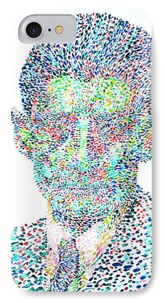 Franz Kafka Watercolor Portrait.1 Phone Case by Fabrizio Cassetta