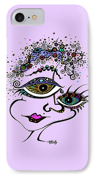 IPhone Case featuring the drawing Frazzled by Tanielle Childers