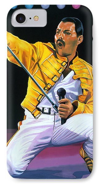 Freddie Mercury Live IPhone Case by Paul Meijering