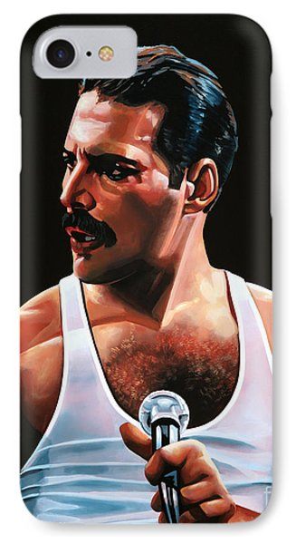 Barcelona iPhone 7 Case - Freddie Mercury by Paul Meijering