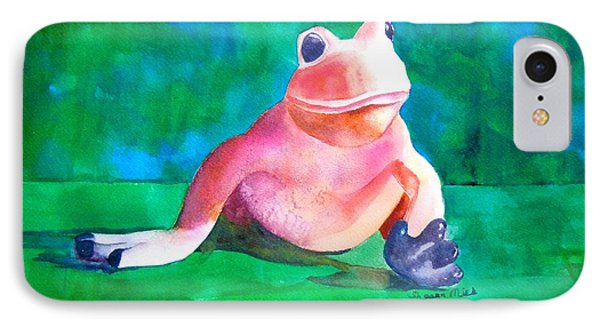IPhone Case featuring the painting Freddy The Frog by Sharon Mick