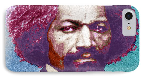 Frederick Douglass Painting In Color Pop Art IPhone Case by Tony Rubino