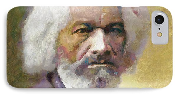 Frederick Douglass IPhone Case by Wayne Pascall