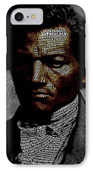 Frederick Douglass Word Mosaic IPhone Case by Hans Fleurimont