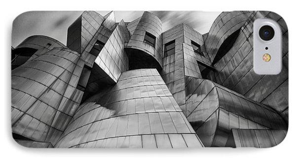 Frederick R Weisman Art Museum Minneapolis Bw IPhone Case by Wayne Moran
