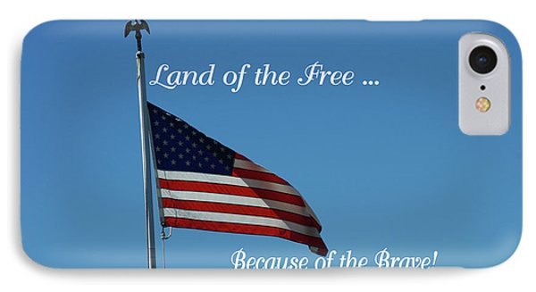 Free Because Of Brave IPhone Case by Robyn Stacey