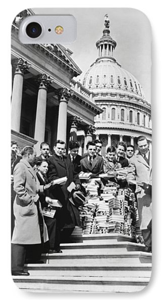 Free Books For Congress IPhone Case by Underwood Archives