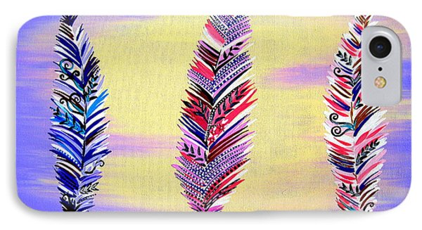Free Spirited- Mauve IPhone Case by Cathy Jacobs