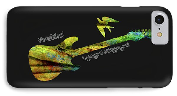 Freebird Lynyrd Skynyrd Ronnie Van Zant IPhone Case by David Dehner