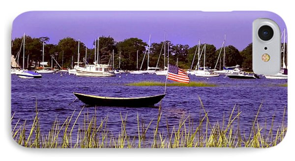 Freedom Bristol Harbor Rhode Island IPhone Case by Tom Prendergast
