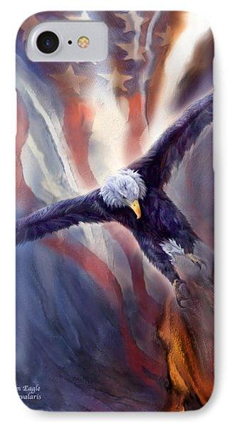 Freedom Eagle Phone Case by Carol Cavalaris