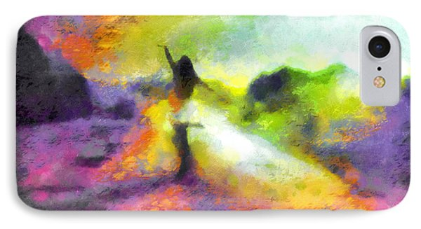 Freedom In The Rainbow IPhone Case by Mario Carini
