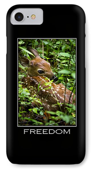 Freedom Inspirational Motivational Poster Art Phone Case by Christina Rollo