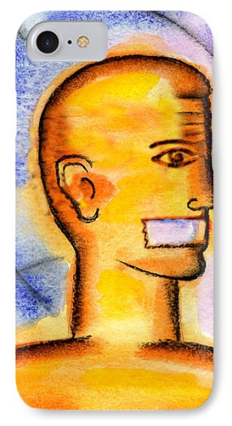 IPhone Case featuring the painting Freedom Of Press  by Leon Zernitsky
