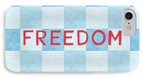 Freedom Patchwork IPhone Case by Linda Woods