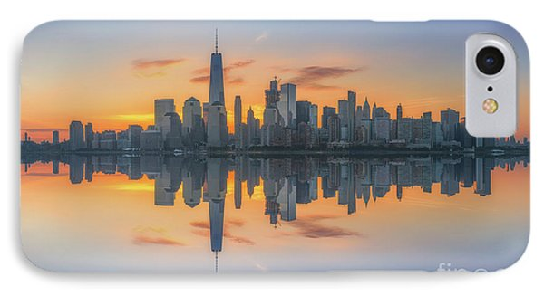 Freedom Tower Sunrise Reflections IPhone Case by Michael Ver Sprill